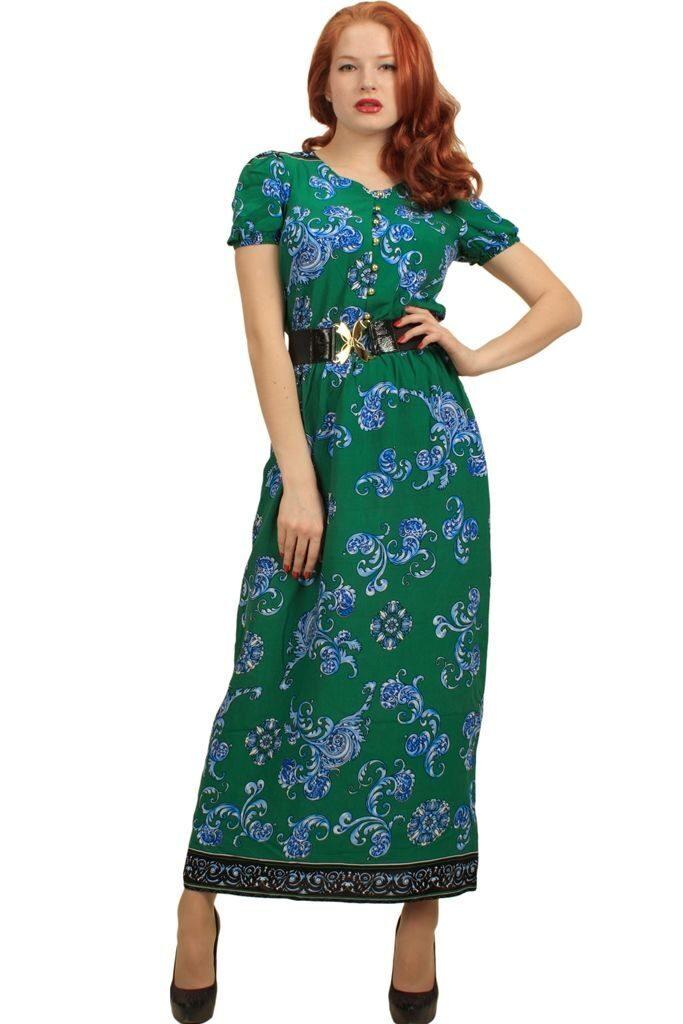 Платье из ткани штапель