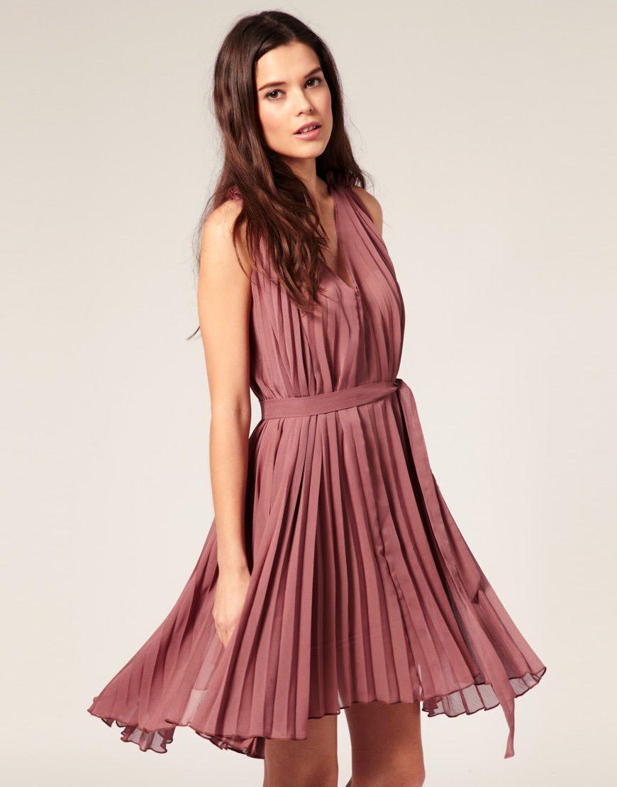 Платья с юбкой гофре плиссе